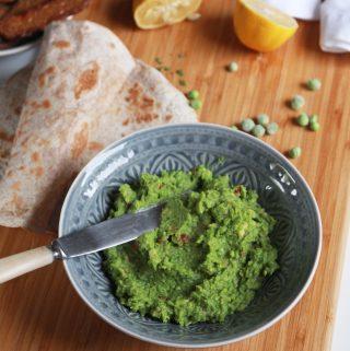 Krémové guacamole s hráškom