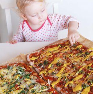 Chrumkavá vegánska pizza zo špaldovej múky