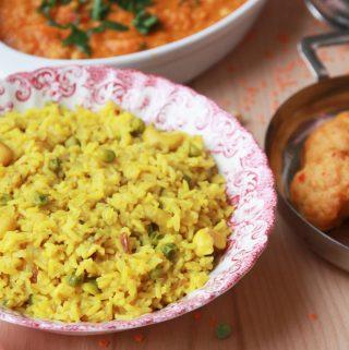 Indická ryža so sušenými marhuľami