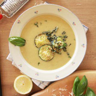 Krémová cukinovo – cícerová polievka